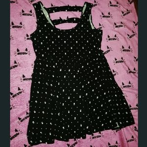 Gothic Skull Polkadot Dress Hot Topic Skeleton
